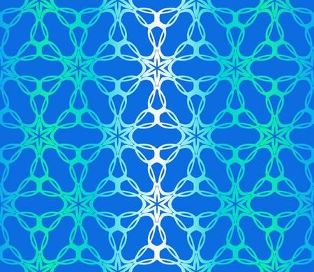 Blue color Floral Geometric Pattern. Seamless Texture Color Background. Element For Design. Vector Illustration. Ilustrace