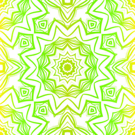 Green color seamless floral lace ornament. Vector illustration. Design for layout, page, background. Ilustrace