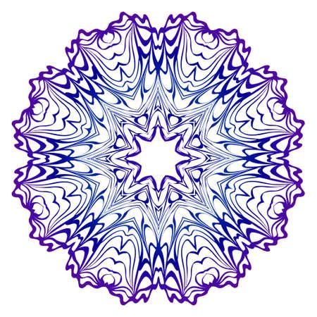 Mandala-Muster. Vektor-Illustration. Modernes dekoratives Blumenfarbmandala. Dekorativer Cicle-Ornament. Blumendesign. Muster der Anti-Stress-Therapie
