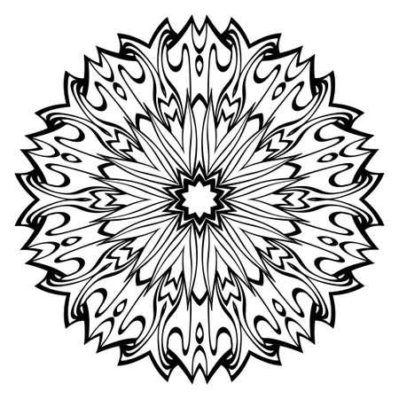 Modern Decorative Floral Color Mandala. Round Shapes. Illustration Illustration