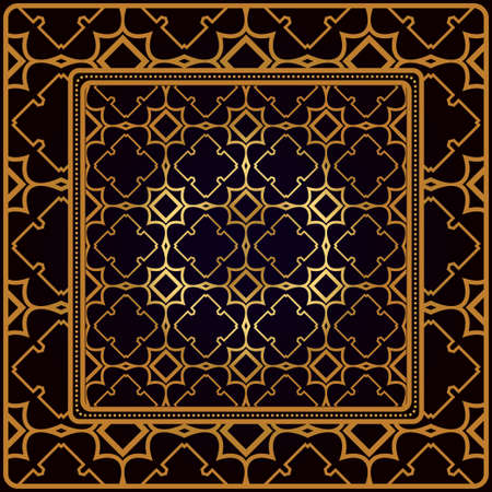 Decorative Pattern With Geometric Ornament. Perfect For Printing On Fabric Or Paper. Vector Illustration. Black bronze color.