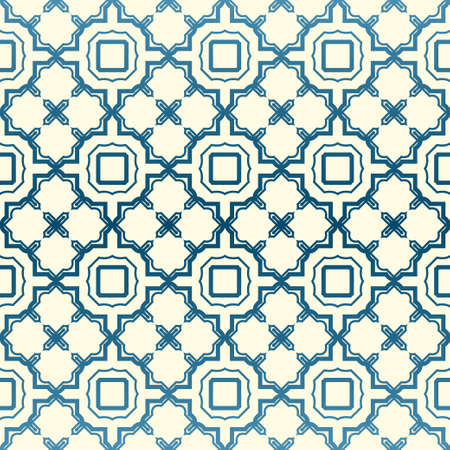 Abstract Vector Seamless Pattern With Abstract Geometric Style. Repeating Sample Figure And Line. For Fashion Interiors Design, Wallpaper, Textile Industry. Pastel color. Ilustración de vector