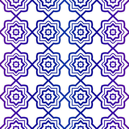Abstract Vector Seamless Pattern With Abstract geometric Style. Repeating Sample Figure And Line. For Modern Interiors Design, Wallpaper, Textile Industry. Purple gradient color.