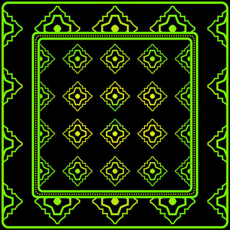 Geometric Pattern. Vector Illustration. Design For Printing, Presentation, Textile Industry. Black green color.