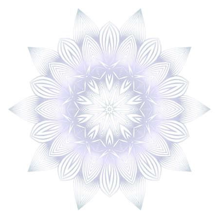 Beautiful Round Flower Mandala. For Design, Greeting Card, Invitation, Coloring Book. Arabic, Indian, Motifs
