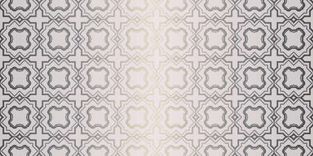 Vector Seamless Pattern With Abstract Geometric Style. Repeating Sample Figure And Line. For Fashion Interiors Design, Wallpaper, Textile Industry. Beige silver color.