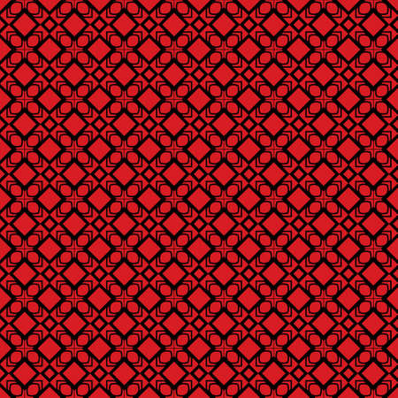 Seamless Geomteric Patterns. Vector Illustration. Hand Drawn Wrap Wallpaper, Cover Fabric, Cloth Textile Design. red black color. Illustration