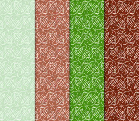 Set of Modern Geometric Pattern. Vector illustration. For fabric, textile, interior, print.