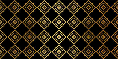 Luxury Traditional Ornamental Design. Modern Seamless Geometry Pattern. Vector Illustration. For Interior Design, Printing, Web And Textile Design. Black gold color. Archivio Fotografico - 125164480