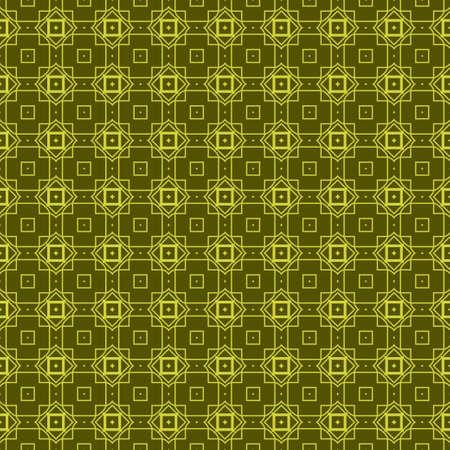 Seamless Geometrical Linear Texture. Original Geometrical Puzzle. Backdrop. Vector illustration. Green color. Archivio Fotografico - 125164495