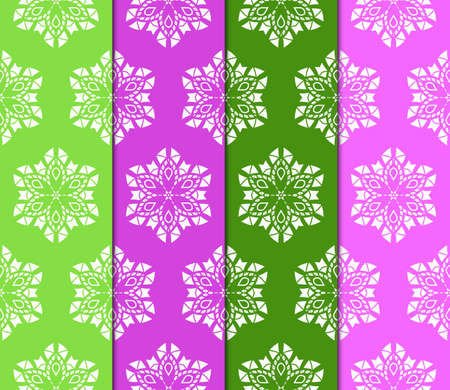 Set of Abstract seamless patterns in delicate bright colors. Geometric ornaments. Vector collection. For design, wallpaper, print, cover book Archivio Fotografico - 125164545