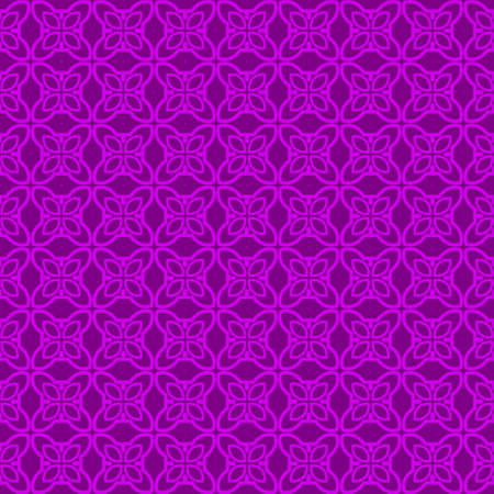 Seamless Pattern With Abstract Geometric Style. Repeating Sample Figure And Line. Vector illustration. Purple color. Archivio Fotografico - 125164563