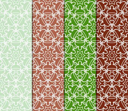 colección de patrón geométrico con adornos florales abstractos. Fondo de vector transparente. Patrón gráfico moderno Ilustración de vector