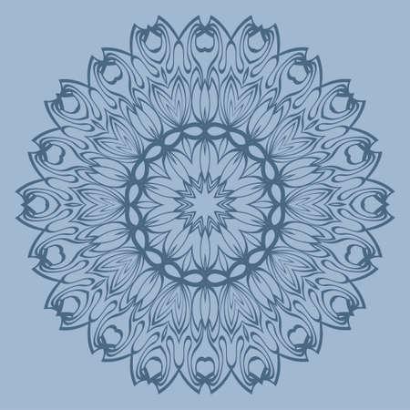 Ornamental Arabic Pattern With Mandala. Vintage Vector For Print Or Web Design. Invitation, Wedding Card, National Design. Pastel color. Ilustração