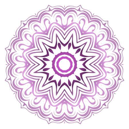 Pastel purple color mandala ornament. Vector illustration.