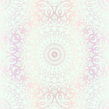 Design For Square Fashion Print. For Textile, fabric printa. Seamless Floral Pattern. Vector Illustration