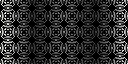 Seamless Geometrical Texture. Vector Illustration. For Design, Wallpaper, Fashion, Print. Charcoal silver color. 向量圖像
