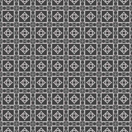 Bella illustrazione di vettore di ornamento geometrico pizzo senza soluzione di continuità. Astratto. colore grigio.