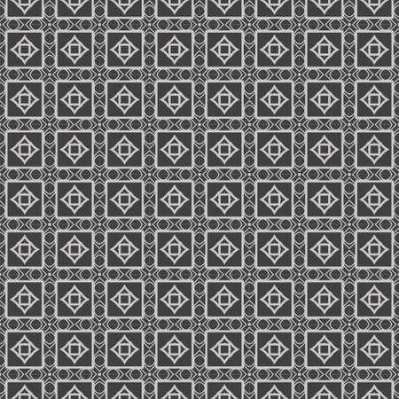 Ilustración de vector de ornamento geométrico de encaje transparente hermoso. Resumen. color gris.