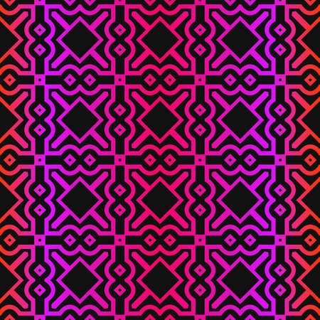 Vector Paper For Scrapbook. GeometricTexture For Wallpaper, Invitation. Seamless Ornament. Black purple color.