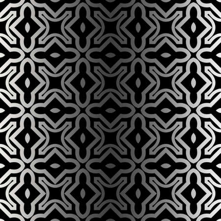Vector Paper For Scrapbook. Stylish Fashion Geometric Design Background. Seamless. Black silver color.