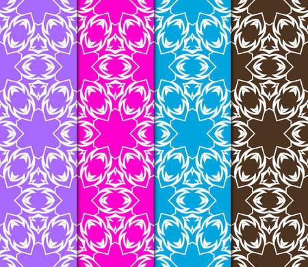 set of art deco GEOMETRIC background. seamless pattern. Vector ILLUSTRATION. For design, wallpaper, textile Banco de Imagens - 124990973