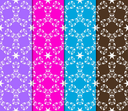 set of Geometric seamless pattern. Decorative art deco style. Vector illustration for design Banco de Imagens - 124990974