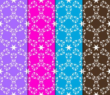set of Geometric seamless pattern. Decorative art deco style. Vector illustration for design Ilustração