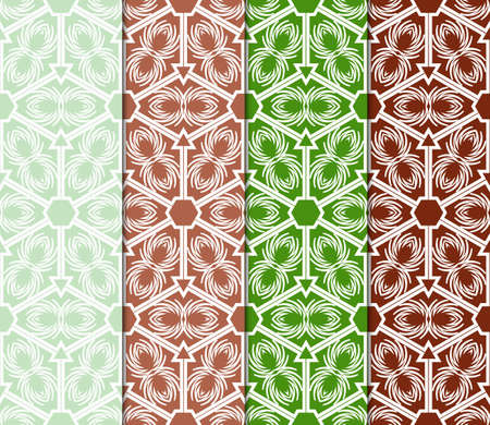 collection of Art Deco style seamless pattern texture. Color background. Vector illustration. for design, interior, print Illustration