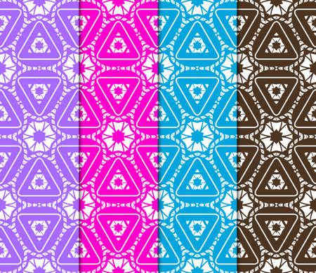 set of color decorative floral ornament. modern pattern. for interior design, textile, wallpaper. seamless vector illustration.