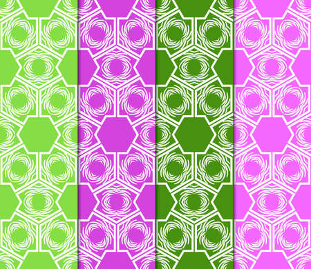 collection of geometric pattern with floral abstract ornament. Seamless vector background. Graphic modern pattern