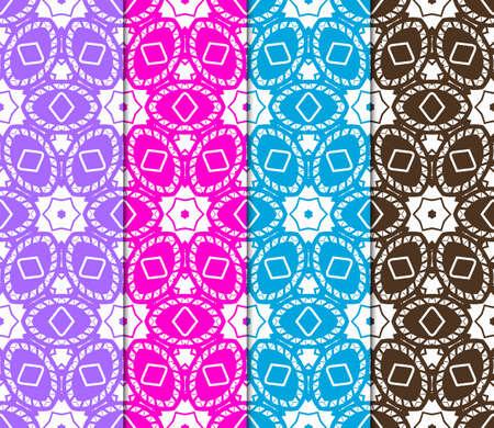 Set of Decorative geometric ornament. seamless pattern. vector illustration. for interior design, wallpaper, invitation
