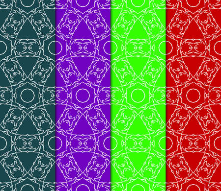 Set of Abstract geometric ornament. Beautiful seamless vector pattern. for Card, print, design, wallpapr 向量圖像