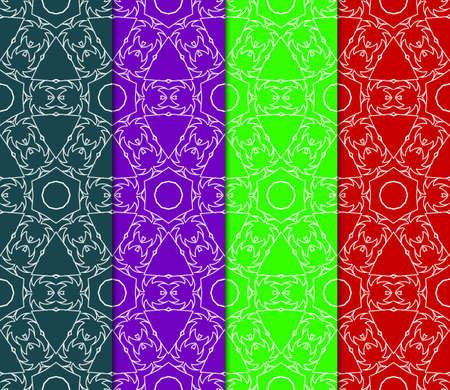 Set of Abstract geometric ornament. Beautiful seamless vector pattern. for Card, print, design, wallpapr Ilustração