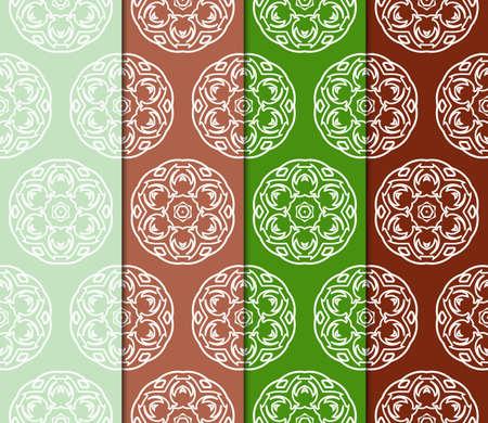 set of color decorative floral ornament. modern pattern. for interior design, textile, wallpaper. seamless vector illustration. Stock Vector - 124990987