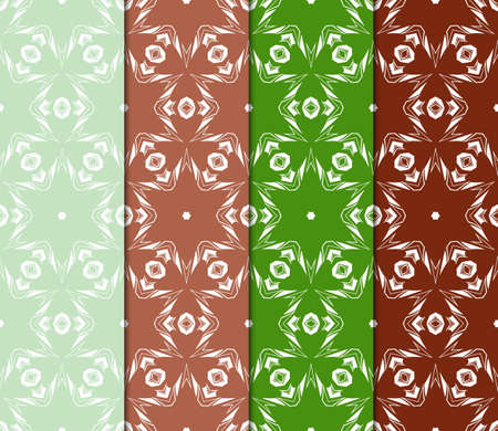 Retro seamless pattern background. Vector illustration for design. Stylish decorative art deco set