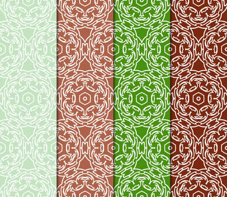 Set of vector geometric pattern background. Color background. For design, scrapbook, print