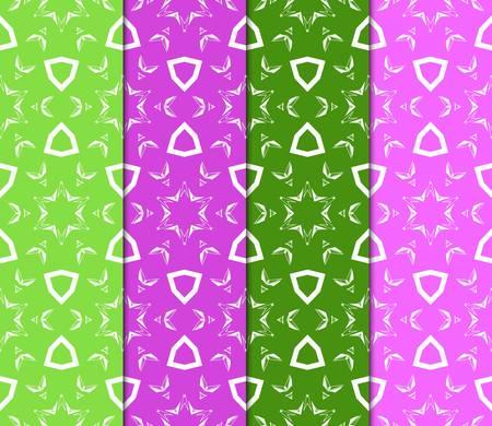 Set of vector geometric pattern background. Color background. For design, scrapbook, print
