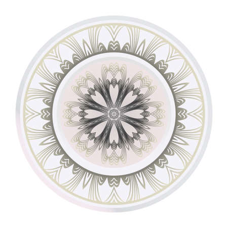 Art Deco Pattern Of Round Floral Mandala. Vector Illustration. Design For Printing, Presentation, Textile Industry. Ilustrace