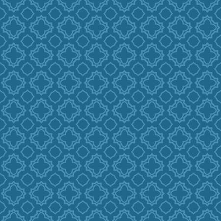 Decorative Geometric Ornament. Seamless Pattern. Vector Illustration. Tribal Ethnic Arabic, Indian, Motif. For Interior Design, Wallpaper. Blue color.