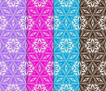Set of seamless modern geometric patterns. Endless repeating linear texture for wallpaper, design, print. Vector illustration