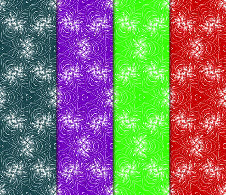 set of art deco GEOMETRIC background. seamless pattern. Vector ILLUSTRATION. For design, wallpaper, textile Ilustração
