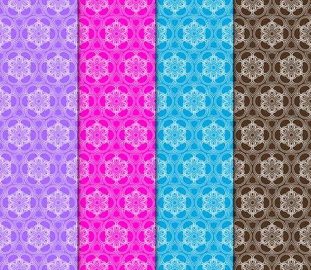 set of Geometric seamless pattern. Decorative art deco style. Vector illustration for design Illustration