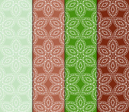 collection of modern pattern with geometric art deco ornament. vector illustration. oriental design.