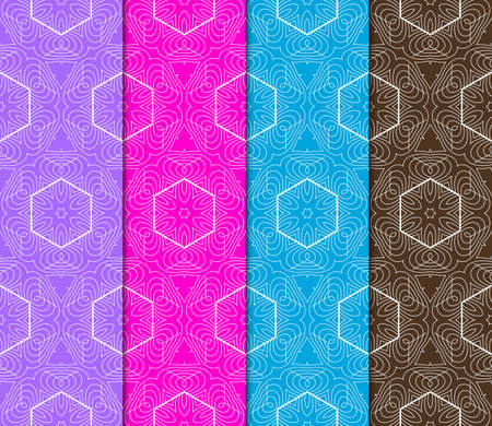 Ornamental seamless geometric patterns - seamless vector collection. Luxury design. For wallpaper, print interior