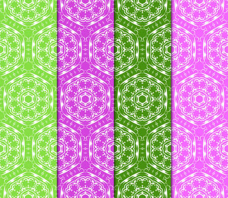 Set of abstract geometric seamless pattern. Color Background, Texture for design, Interior, Print. Vector illustration. Illustration