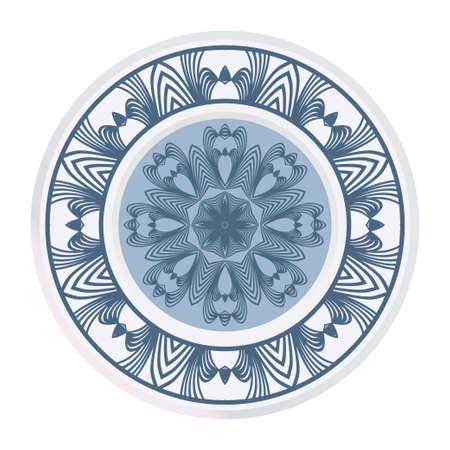 Ornamental Round Lace. Sacred Oriental Mandala. Color Floral Ornament. Modern Decorative Vector Illustration.