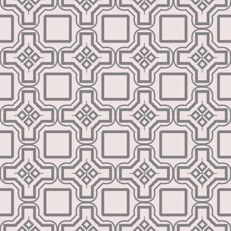 Seamless Geometric Modern Pattern. Art-Deco Geometric Background. Graphic Design. Vector Illustration. Beige color. Ilustração