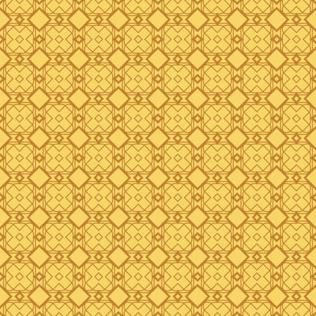 Seamless Lace Pattern With Abstract Geometric. Vector illustration. Orange color.