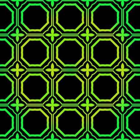 Seamless geometric Backgrounds. Vector Illustration. Hand Drawn Wrap Wallpaper, Cover Fabric, Cloth Textile Design. black green color.
